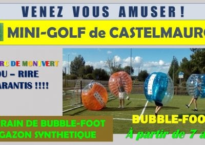 Terrain de bubble-foot